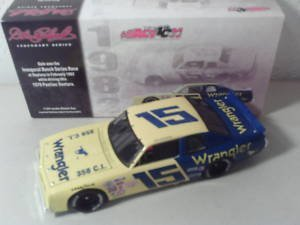 Dale Earnhardt #15 Wrangler Inaugural Busch Series Winning Car February 1982 Daytona 1979 Pontiac Ventura Action 1/24 Scale Diecast Hood & Trunk Opens Action Racing Collectables ARC Legendary Series Limited Production (Action Racing Collectables Hood)