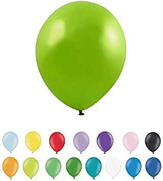 Pack of 25 Latex 10 Inch Suitable for Helium or Air Birthday Parties and Weddings INERRA Balloons Apple Green Colour Options