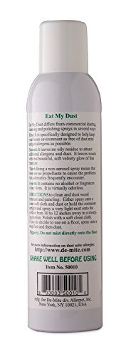 DeMite EAT MY DUST 10oz Anti Dust Mite Spray (3 Pack), Odorless, Non Oily, Non Toxic - Eliminates Pet Allergens, Pollen, Mold, Dust, from Wooden Furniture