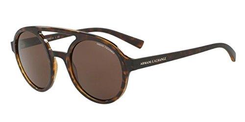 Armani Exchange AX4060S Sunglasses 821373-50 - Matte Tortoise/Topaz Shiny Frame, - X 23 Sunglasses