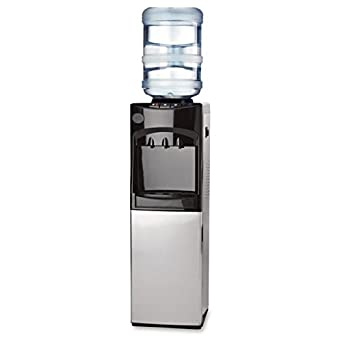 Genuine Joe GJO22552 Cabinet Freestanding Water Cooler, Stainless Steel,  185 Degrees F Heating To