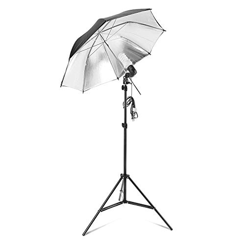 PHOTO MASTER 600W Photography Continuous Umbrellas Lighting Kit for Video Studio Includes 6x6.6ft Background Stand, 3 Backdrops, 2 Soft Umbrellas,1 Umbrella Reflector, 4 Clamps, Carrying Bags by PHOTO MASTER (Image #4)