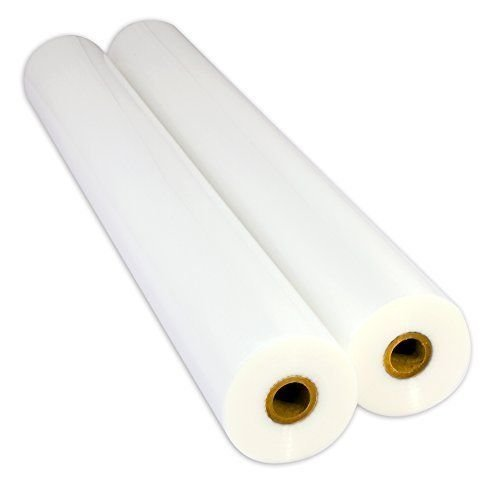 USI WrapSure Standard Thermal Roll Laminating Film, 1 Inch Core, 3 Mil, 25 Inches x 250 Feet, Clear, Gloss Finish, 2-Pack by USI