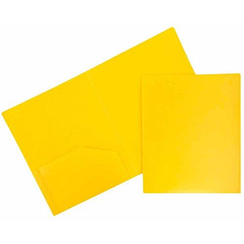 JAM Paper Plastic Heavy Duty Plastic 2 Pocket School Presentation Folders - Assorted Primary Colors - 6/pack by JAM Paper (Image #6)