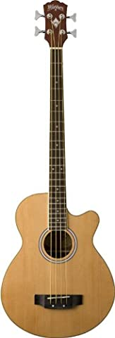 Washburn Acoustic Basses AB5K Acoustic Bass, Natural (Acoustic Basses)
