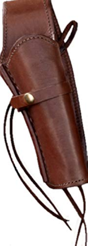 Single Action Revolver Holsters - Western Gun Holster - Brown - Right Handed - for .22 Caliber single action revolver - Size 6