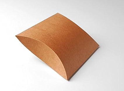 Selfpackaging Cajas para Detalles de Boda en cartulina Kraft. Pack de 50 Unidades - L
