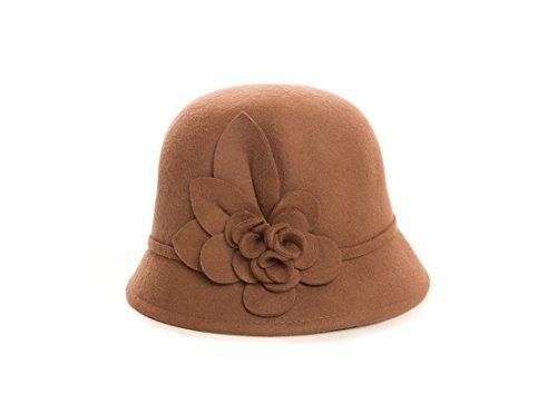 Nine  (Brown Cloche Hat)