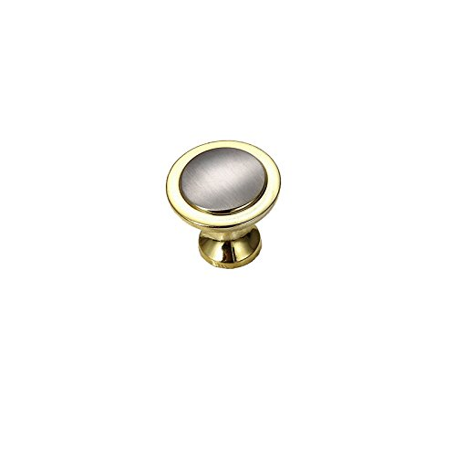 Single Wardrobe (MATMO Brushed Brass Contemporary Cabinet Hardware Modern Simple Handle Pull Wardrobe Door Drawer Knob - Single Hole 1