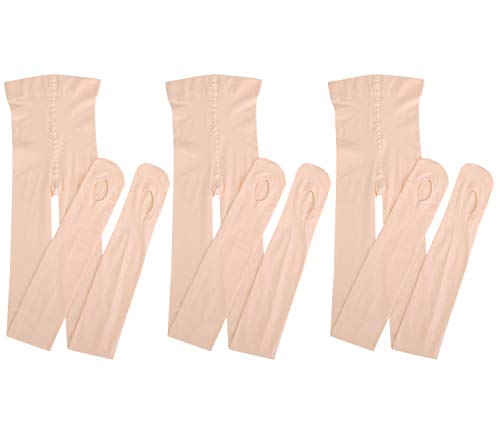 Dancing Kitty 3 Pairs Ultra Soft Convertible Ballet Dance Tights for Girl Ballet Pink 60 Denier 7D23