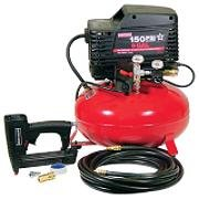 Air Compressor, 1 hp, Pancake Tank