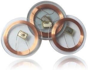 "Durchmesser: 25 mm Dicke: 1 mm Yarongtech /""Mifare Classic 1K/"" Transparentes RFID-Tag 10 St/ück"