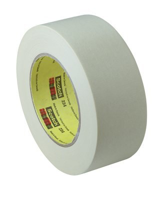 3M (234-18mmx55m) General Purpose Masking Tape 234 Tan, 18 mm x 55 m 5.9 mil, 48 per case Bulk [You are purchasing the Min order quantity which is 48 ROLLS]