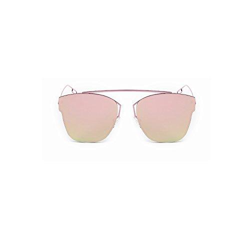 Mirrored Flat Lenses Metal Frame Unisex Sunglasses Madison Eyewear (Rose, Rose Mirror)
