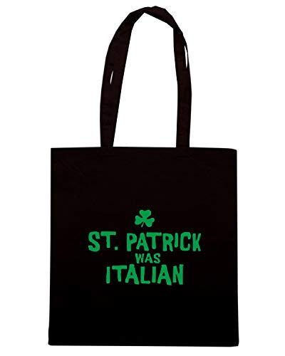 Borsa Shopper Nera TIR0202 ST PAT WAS ITALIAN