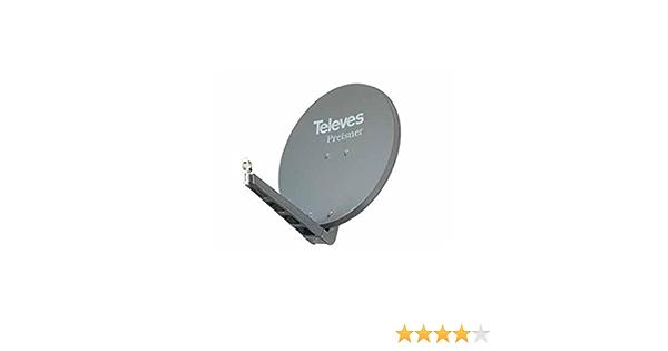 Televes S75QSD-G 10.7-12.75GHz Grafito - Antena (10,7-12,75 GHz, 38,5 dBi, 8,5 kg, Grafito, Aluminio)