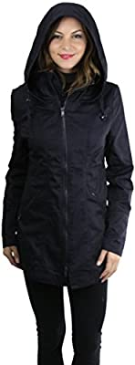 ToBeInStyle Women's Back Waist Cinched Water Resistant Utility Jacket