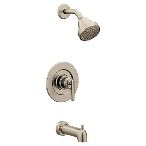 (Moen T2903EPBN Gibson Posi-Temp Pressure Balancing Eco-Performance Modern Tub and Shower Trim without Valve, Brushed Nickel)