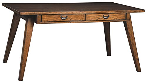 2 Tone Room - Signature Design by Ashley D372-25 Centiar Dining Room Table, Two-Tone Brown
