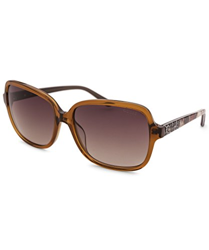 Guess Women's GU7382 GU/7382 47F Honey Brown Fashion Sunglasses - Sunglasses Oversized Guess