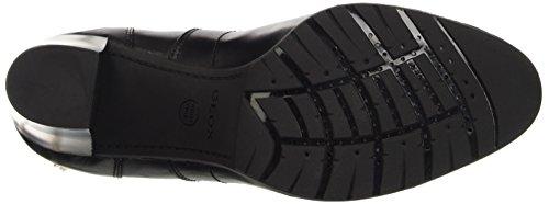 Geox D Raphal Mid D, Zapatos de Tacón para Mujer Schwarz (BLACKC9999)