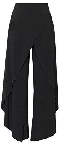 Joseph Ribkoff Dress Pant with Paneled Overlay (8, Black) by Joseph Ribkoff