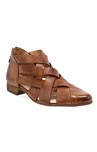 Bed|Stu Women's Brittany Leather Sandal (7 M US, Tan Dip Dye)