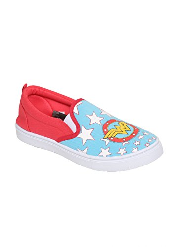 Dc Comics Donna Wonder Woman Slip On Sneaker Aqua