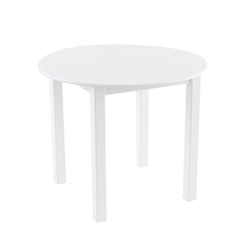 Max & Lily Natural Wood Kid and Toddler Round Table, White by Max & Lily (Image #6)