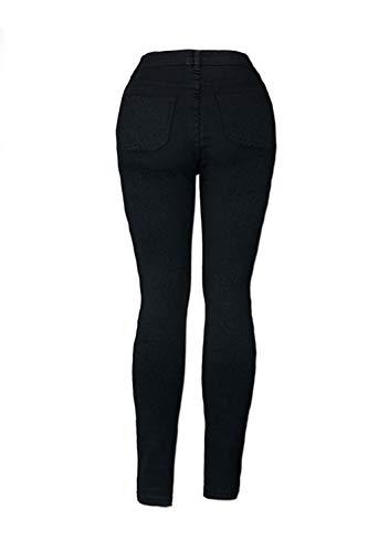Salon Femmes Pantalon Sevozimda Occasionnel Dchir Leggings Trou Long Maigre Jeans Noir Pantalon 7x0xw