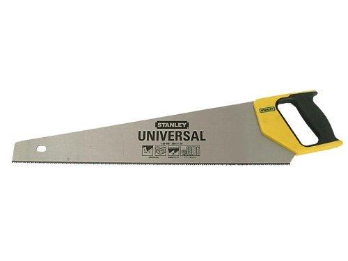 Stanley Universal Handsäge HP, 380mm Länge, 15 Zähne/Inch, 45°/90°-Handgriffanschlag, DynaGrip, 1-20-002