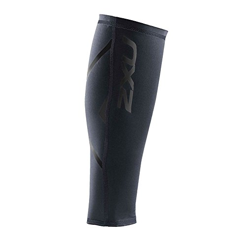 2XU Compression Calf Guards, Steel/Black