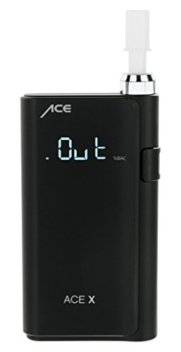 ACE X Portable Breathalyzer Professional Grade Fuel Cell with Digital Display and 5 Mouthpieces by ACE Instruments (Image #2)