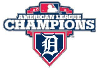 Official MLB Detroit Tigers 2012 American League Champions -