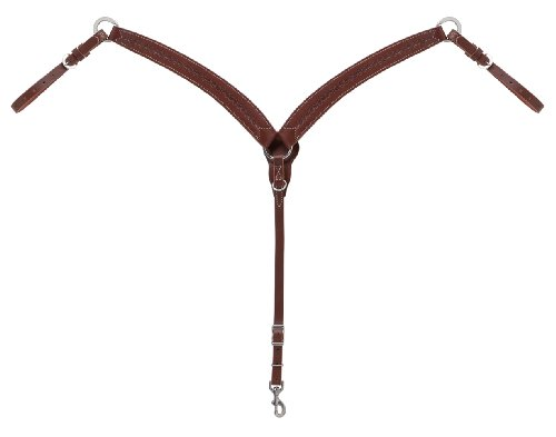 (Weaver Leather Barbed Wire Contoured Breast Collar, Brown )