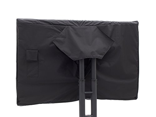 CoverMates - Outdoor TV Cover - Fits 46 to 49 Inch TV's - Elite - 300 Denier Stock-Dyed Polyester - Full Coverage - Front Interior Fleece Lining - 3 Year Warranty - Water Resistant - Black by CoverMates