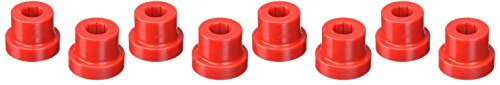 Prothane 1-1016 Red Front and Rear Main Spring Eye Bushing Kit for CJ5, CJ6, CJ7 and YJ