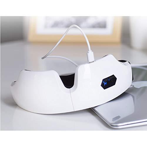 87589dabc0 Tchin Gafas de Masaje inalámbrico Bluetooth Carga USB sincronización compresa  Caliente Ojo máscara clásico Plegable Instrumento de Masaje: Amazon.es:  Hogar