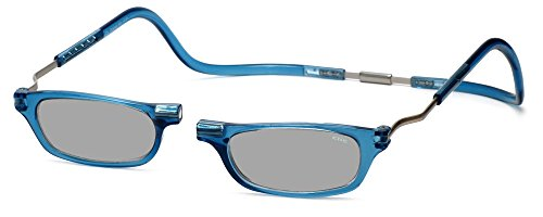 Clic XXL Magnetic Front connection Reading Sunglasses in Blue Jean - Glasses Denim