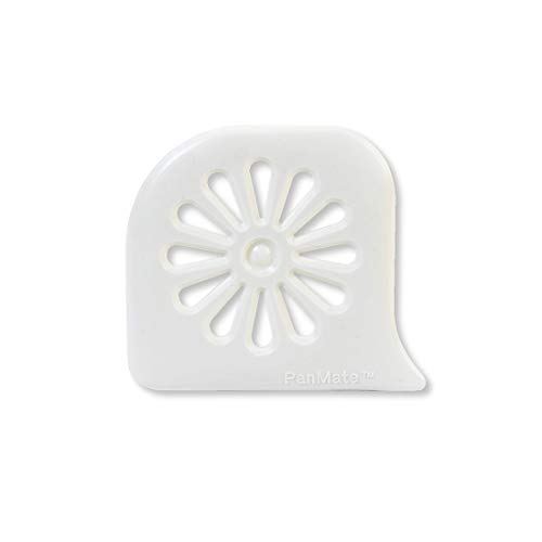 Rada Cutlery Daisy PanMate Nylon Scraper Safely Clean Pots and Pans, 3 x 2-1/2 Inches, White, 2 Pack