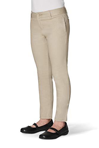 French Toast Little Girls' Stretch Twill Skinny Leg Pant, Khaki, 5 ()