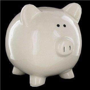 Large White Ceramic Piggy Bank (Large Ceramic Piggy Bank)