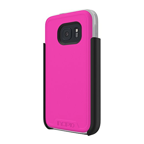 Samsung Galaxy S7 case, Incipio [Performance Series] Level 4, Ultra-Rugged Drop Protection Polycarbonate-Shell Scratch-Resistant Hybrid Cover - Pink/Gray