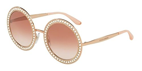 Dolce & Gabbana Women's Round Crystal Sunglasses, Pink Gold/Pink, One - Pink Glasses And Gabbana Dolce