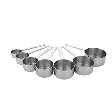 MIU France 7-Piece Stainless Steel Measuring Cup Set