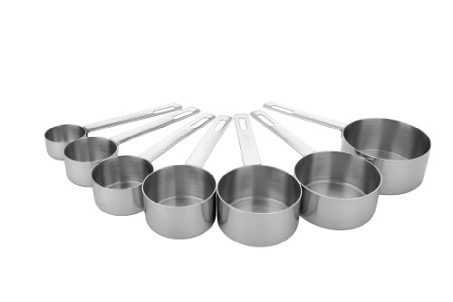 Miu France 91688 SS Measuring Cup 7 sizes - Silver