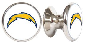 Los Angeles / San Diego Chargers NFL Stainless Steel Cabinet Knob / Drawer Pull