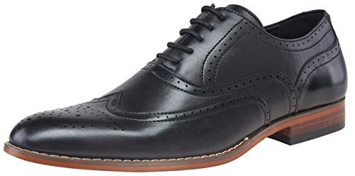 hoes Classic Formal Wingtip Brogue Oxfords (12,Black) ()