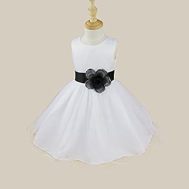 Amazon.com: Alvivi Flower Girl Dress Bow Back Formal Wedding Bridesmaid Dress Communion Baptism Gowns: Clothing