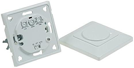 HF-movimiento de 180° de pared LED adecuado, 5,8 hz, max, 1200 W, colour blanco: Amazon.es: Iluminación